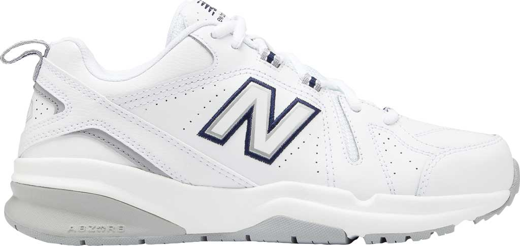 Women's New Balance 608v5 Trainer, White/Silver Mink/Pigment, large, image 2