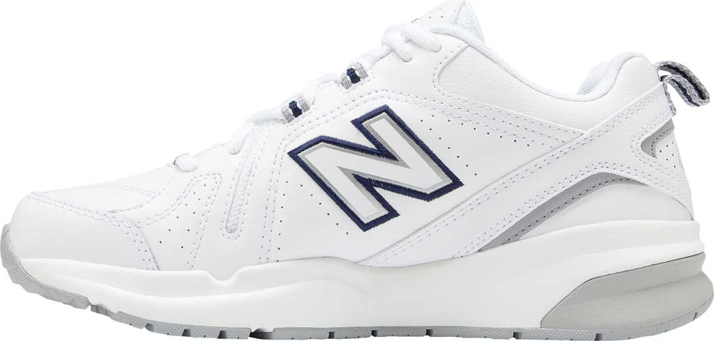 Women's New Balance 608v5 Trainer, White/Silver Mink/Pigment, large, image 3