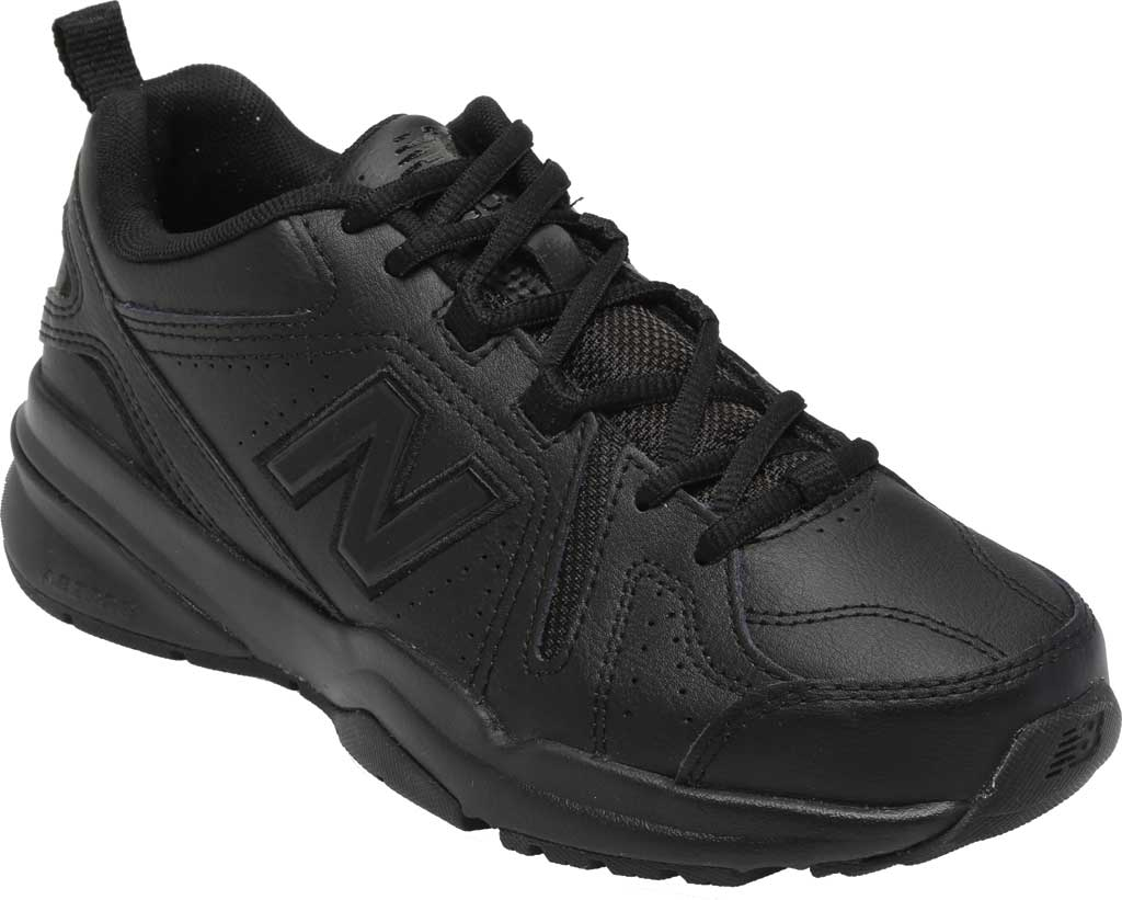 Women's New Balance 608v5 Trainer, Black/Black, large, image 1