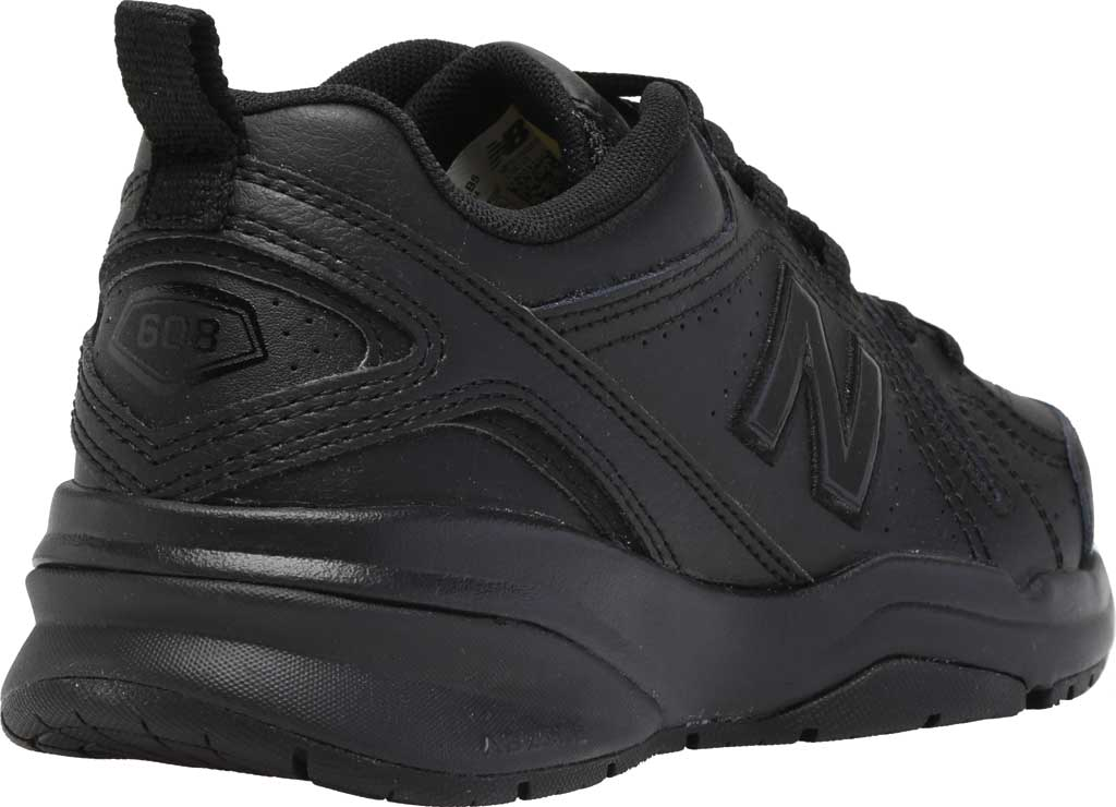 Women's New Balance 608v5 Trainer, Black/Black, large, image 4