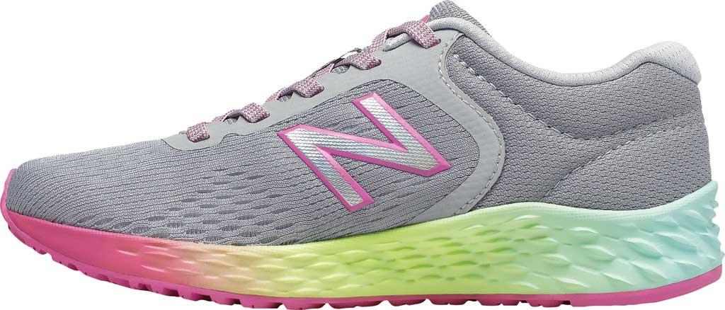 Girls' New Balance Fresh Foam Arishi v2 Running Shoe, Light Aluminum/Rainbow, large, image 3