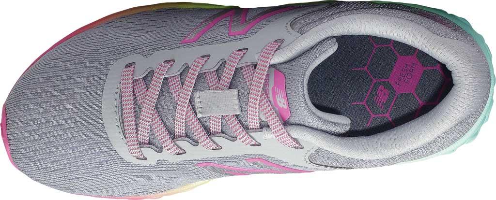 Girls' New Balance Fresh Foam Arishi v2 Running Shoe, Light Aluminum/Rainbow, large, image 4