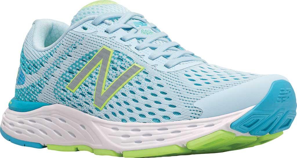 Women's New Balance 680v6 Running Shoe, Grey/Blue, large, image 1