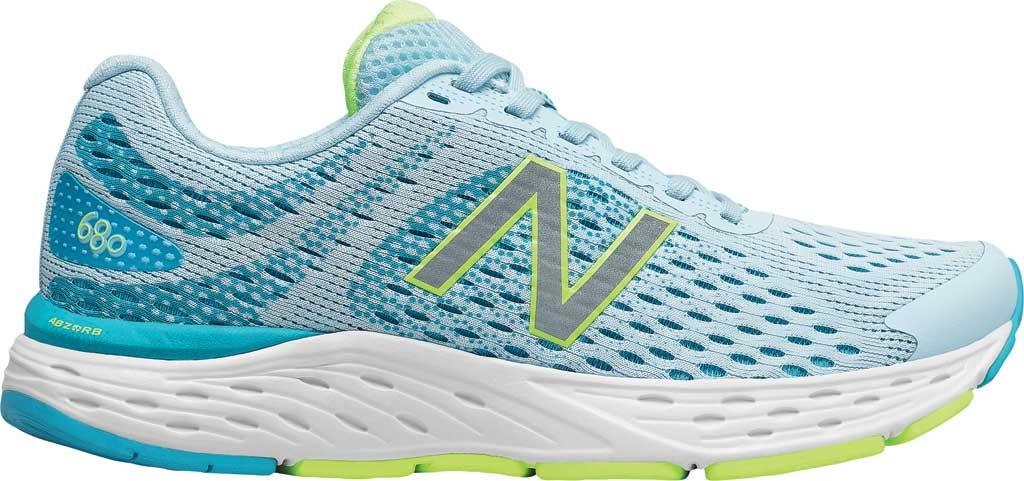 Women's New Balance 680v6 Running Shoe, Grey/Blue, large, image 2