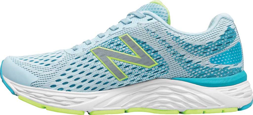 Women's New Balance 680v6 Running Shoe, Grey/Blue, large, image 3