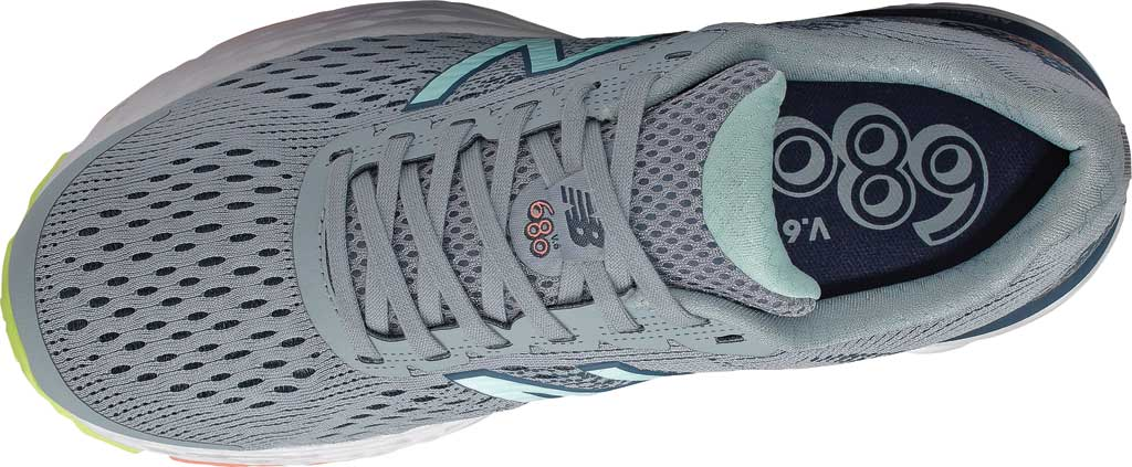 Women's New Balance 680v6 Running Shoe, Light Slate/Stone Blue/Bali Blue/Ginger Pink, large, image 4