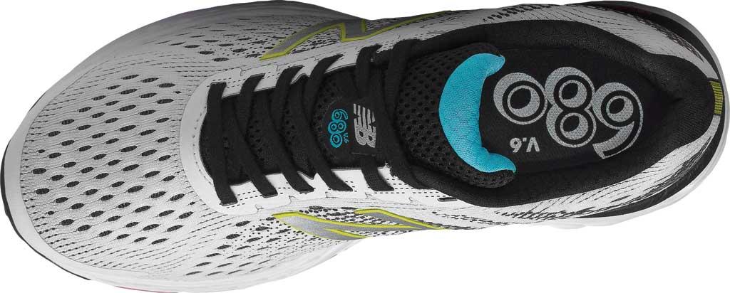 Women's New Balance 680v6 Running Shoe, White/Black, large, image 4