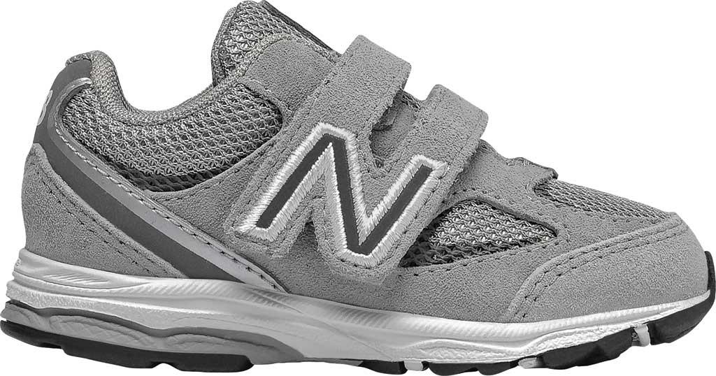 Infant Boys' New Balance 888v2 Hook and Loop Sneaker, Grey/Grey, large, image 1