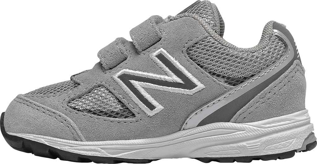Infant Boys' New Balance 888v2 Hook and Loop Sneaker, Grey/Grey, large, image 2