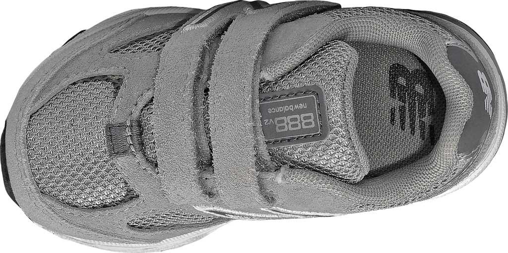 Infant Boys' New Balance 888v2 Hook and Loop Sneaker, Grey/Grey, large, image 3