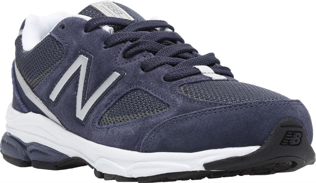 Boys' New Balance 888v2 Running Shoe - Preschool, Navy/Grey, large, image 1