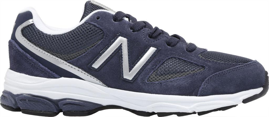 Boys' New Balance 888v2 Running Shoe - Preschool, Navy/Grey, large, image 2