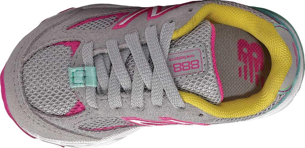 Infant Girls' New Balance 888v2 Running Shoe, Grey/Rainbow, large, image 3