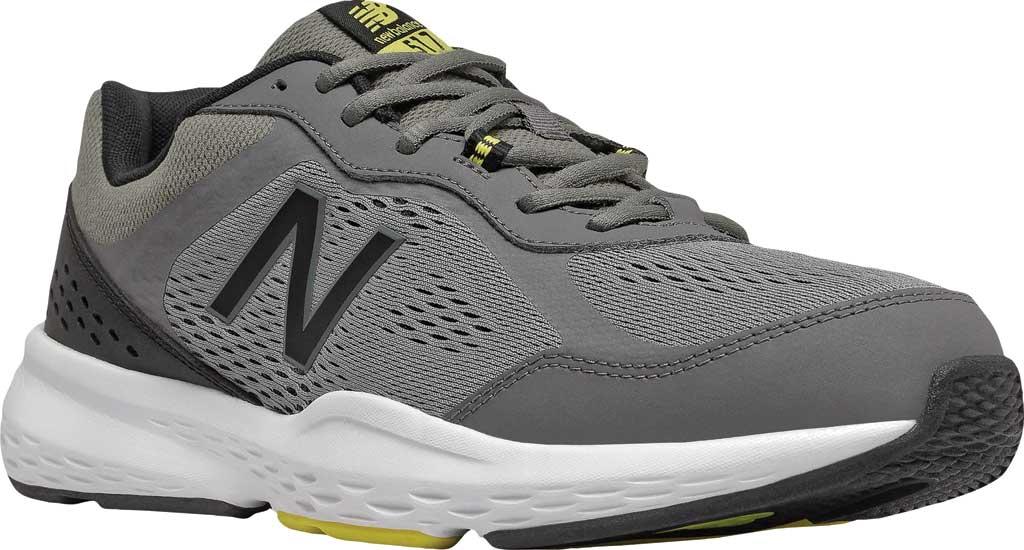 Men's New Balance 517v2 Cross Training Shoe, Castlerock/Sulphur Yellow, large, image 1