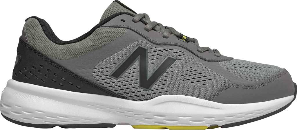 Men's New Balance 517v2 Cross Training Shoe, Castlerock/Sulphur Yellow, large, image 2