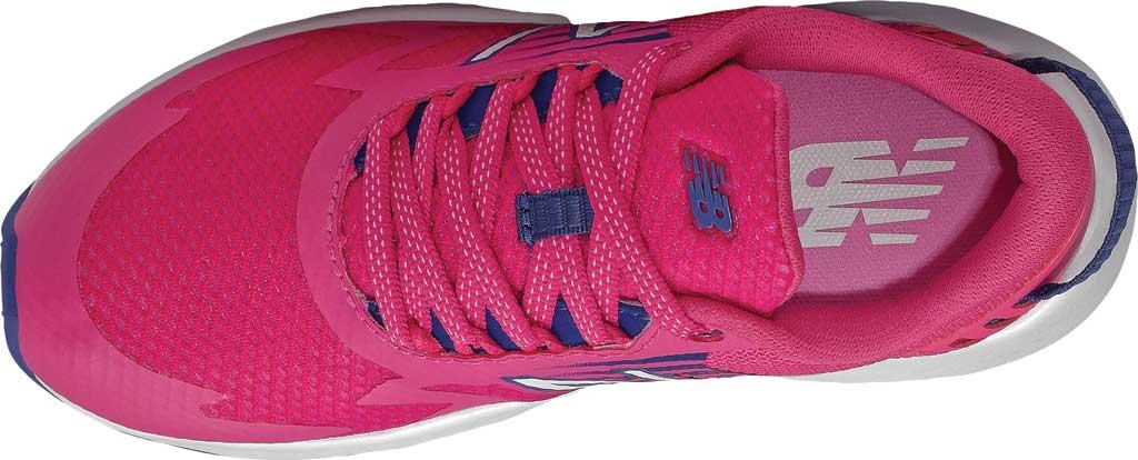 Girls' New Balance Rave Run Sneaker, Exuberant Pink/Candy Pink/Marine Blue, large, image 3