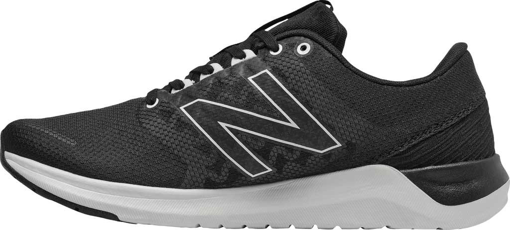 Women's New Balance 715v4 Trainer, Black/White, large, image 2
