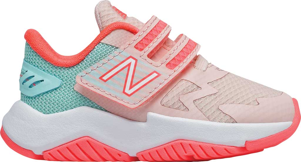 Infant Girls' New Balance Rave Run Hook and Loop Sneaker, , large, image 2