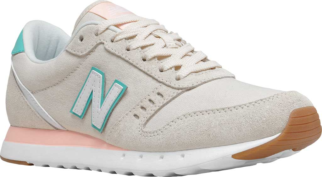 Women's New Balance 311v2 Sneaker, Raw Silk/Summer Jade, large, image 1