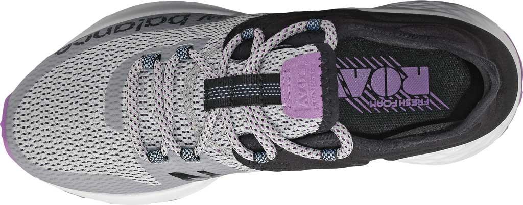 Women's New Balance Fresh Foam Roav Trail Running Shoe, Light Aluminum/Black/Neo Violet, large, image 4