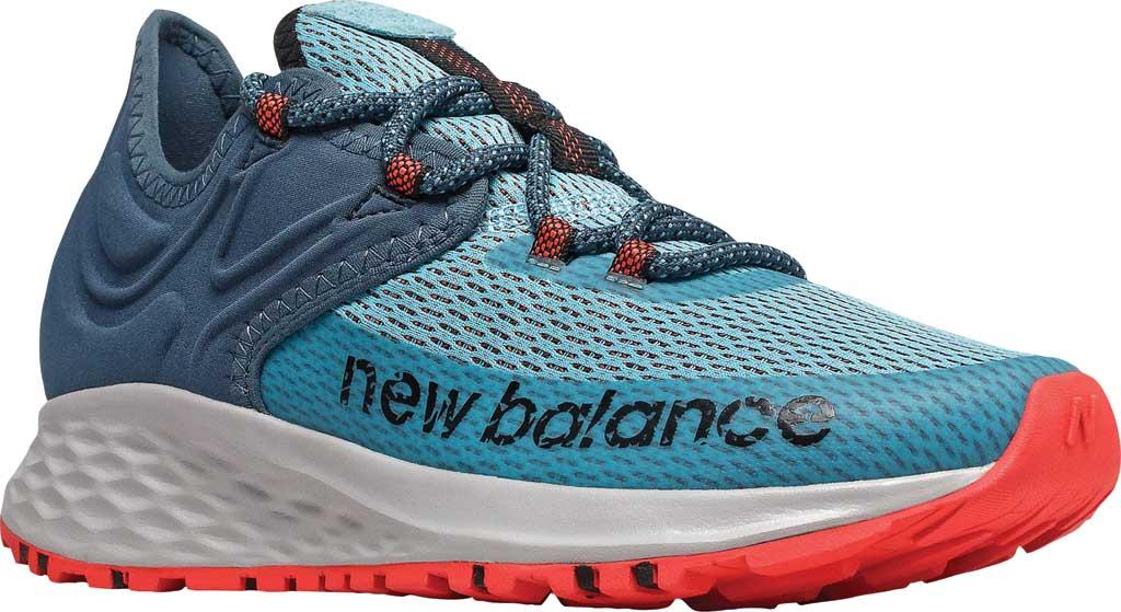 Women's New Balance Fresh Foam Roav Trail Running Shoe, Wax Blue/Stone Blue/Toro Red, large, image 1