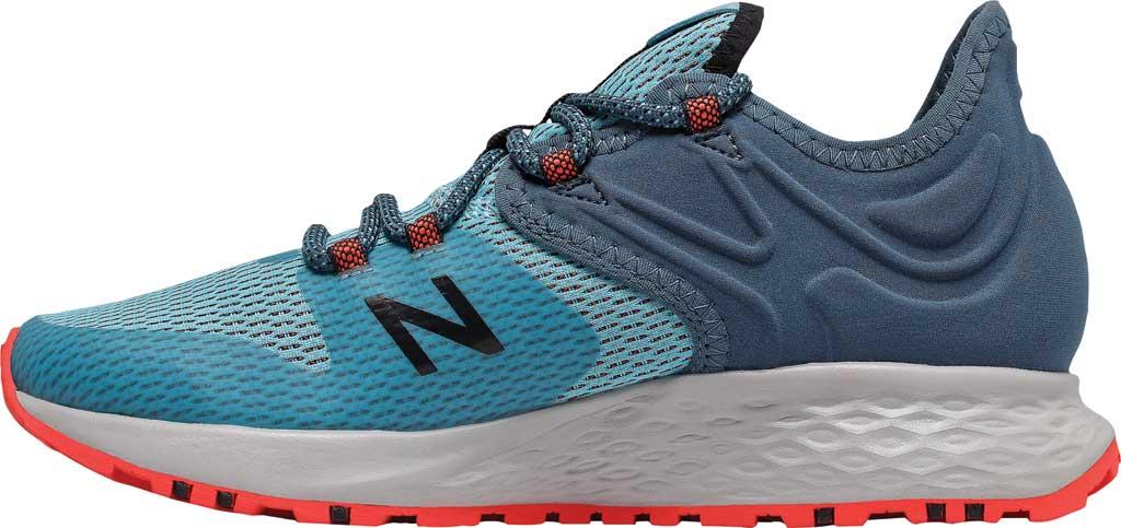 Women's New Balance Fresh Foam Roav Trail Running Shoe, Wax Blue/Stone Blue/Toro Red, large, image 3