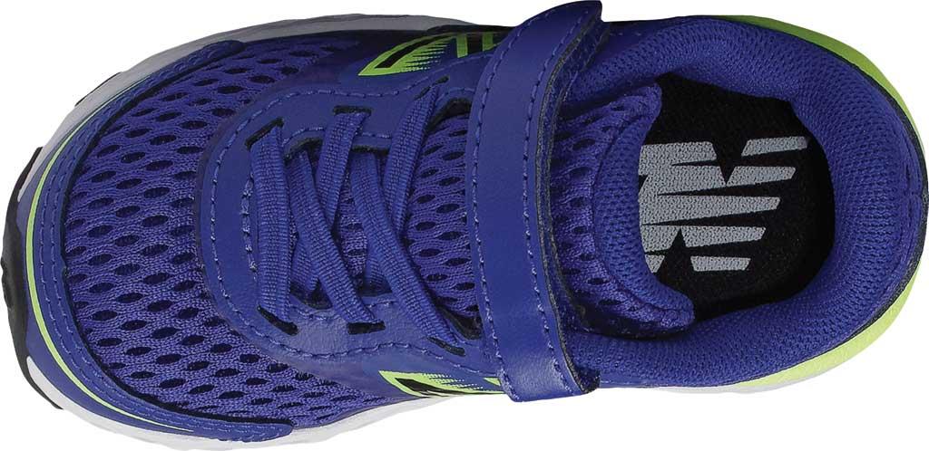 Infant New Balance 680v6 Hook and Loop Running Sneaker, Marine Blue/Lemon Slush/Black, large, image 3