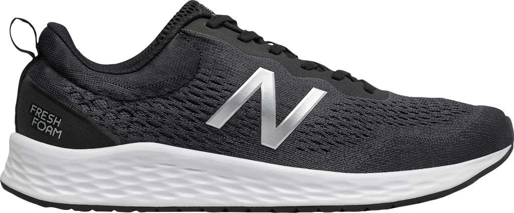 Men's New Balance Fresh Foam Arishi v3 Running Sneaker, Black/Orca/Silver Metallic/White, large, image 1