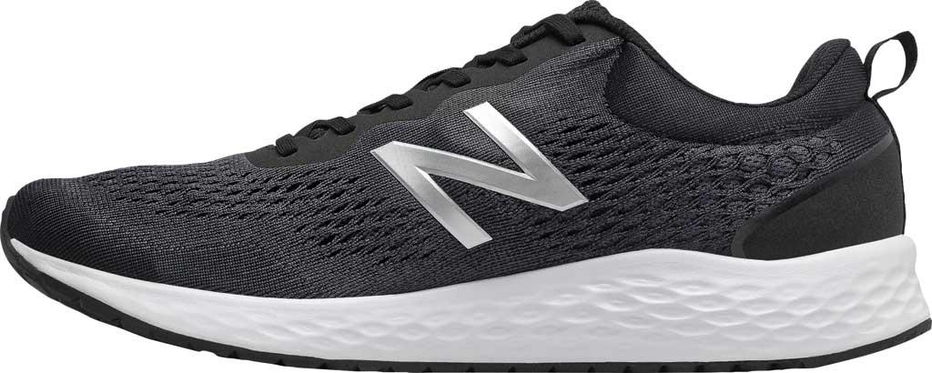Men's New Balance Fresh Foam Arishi v3 Running Sneaker, Black/Orca/Silver Metallic/White, large, image 2