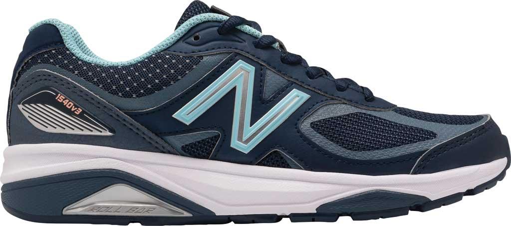 Women's New Balance 1540v3 Running Sneaker, Natural Indigo/Natural Indigo, large, image 2