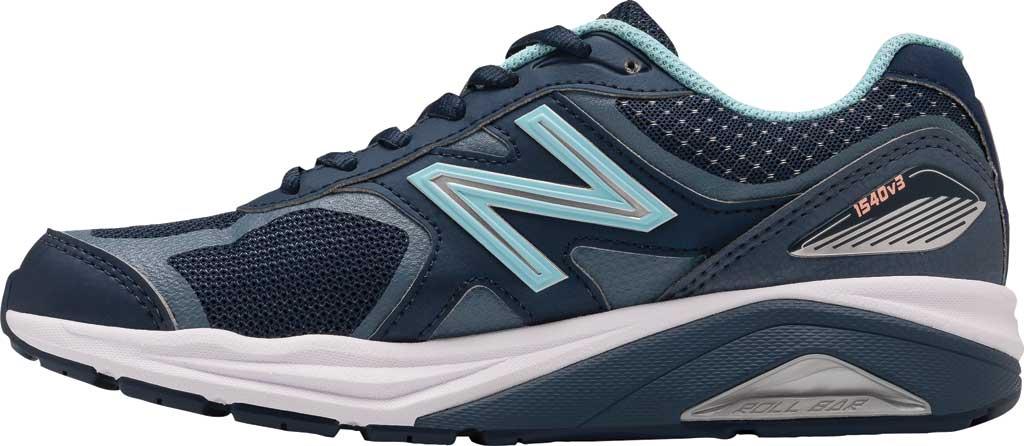 Women's New Balance 1540v3 Running Sneaker, Natural Indigo/Natural Indigo, large, image 3