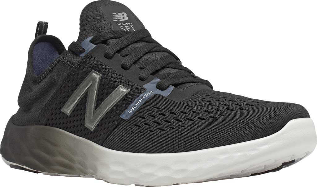 Men's New Balance Fresh Foam Sport v2 Slip-On Running Shoe, Black/Thunder, large, image 1
