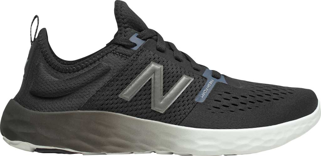 Men's New Balance Fresh Foam Sport v2 Slip-On Running Shoe, Black/Thunder, large, image 2