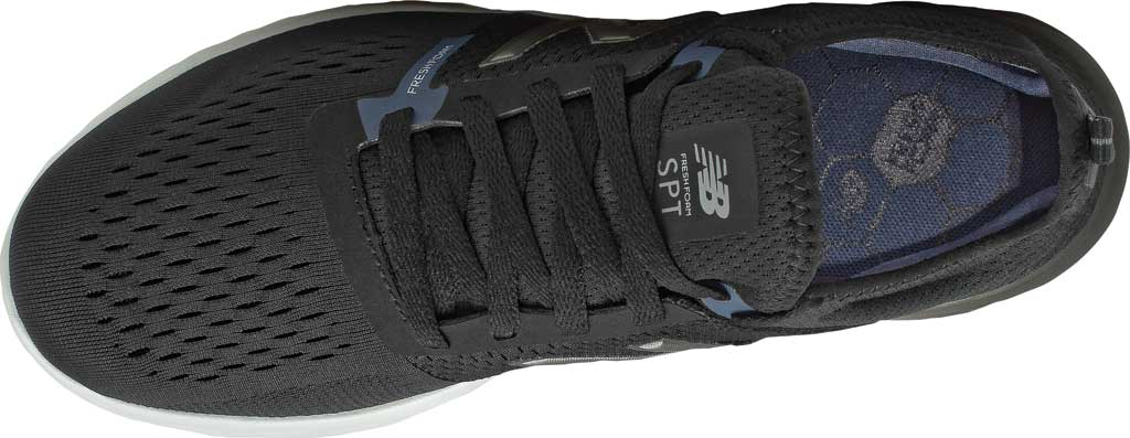 Men's New Balance Fresh Foam Sport v2 Slip-On Running Shoe, Black/Thunder, large, image 4