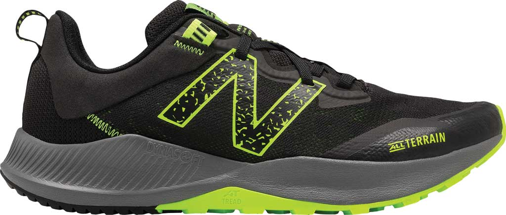 Men's New Balance DynaSoft Nitrel v4 Trail Running Shoe, Black/Lime, large, image 2