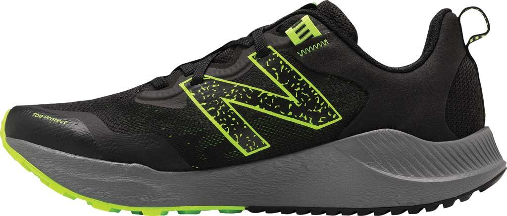 Men's New Balance DynaSoft Nitrel v4 Trail Running Shoe, Black/Lime, large, image 3