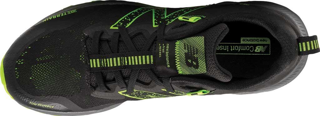 Men's New Balance DynaSoft Nitrel v4 Trail Running Shoe, Black/Lime, large, image 4