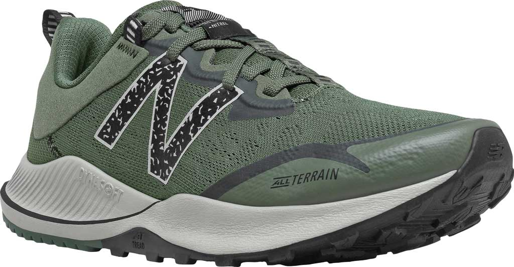 Men's New Balance DynaSoft Nitrel v4 Trail Running Shoe, Celadon/Black Spruce/Black/Virtual Sky, large, image 1