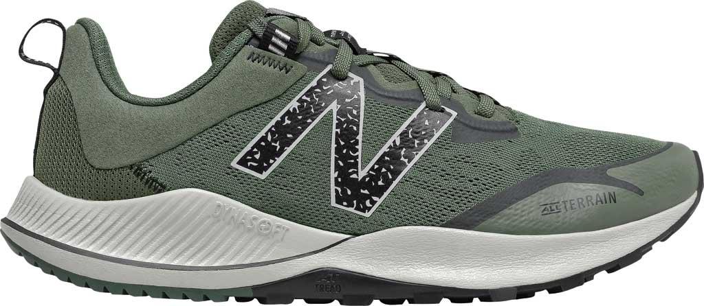 Men's New Balance DynaSoft Nitrel v4 Trail Running Shoe, Celadon/Black Spruce/Black/Virtual Sky, large, image 2