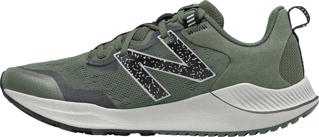 Men's New Balance DynaSoft Nitrel v4 Trail Running Shoe, Celadon/Black Spruce/Black/Virtual Sky, large, image 3