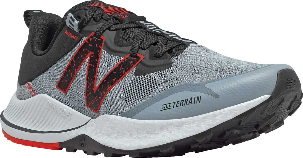 Men's New Balance DynaSoft Nitrel v4 Trail Running Shoe, Cyclone/Light Cyclone/Black/Velocity Red, large, image 1