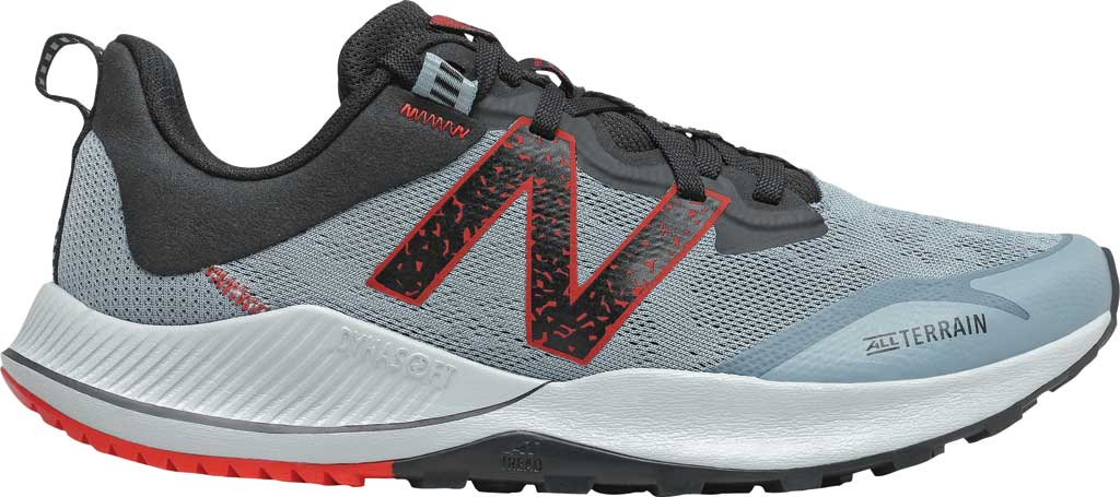 Men's New Balance DynaSoft Nitrel v4 Trail Running Shoe, Cyclone/Light Cyclone/Black/Velocity Red, large, image 2