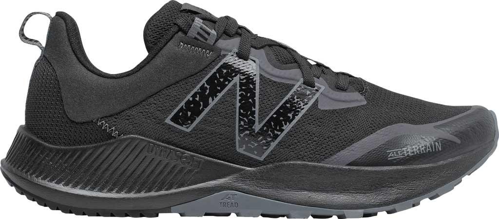 Men's New Balance DynaSoft Nitrel v4 Trail Running Shoe, Black/Black, large, image 1