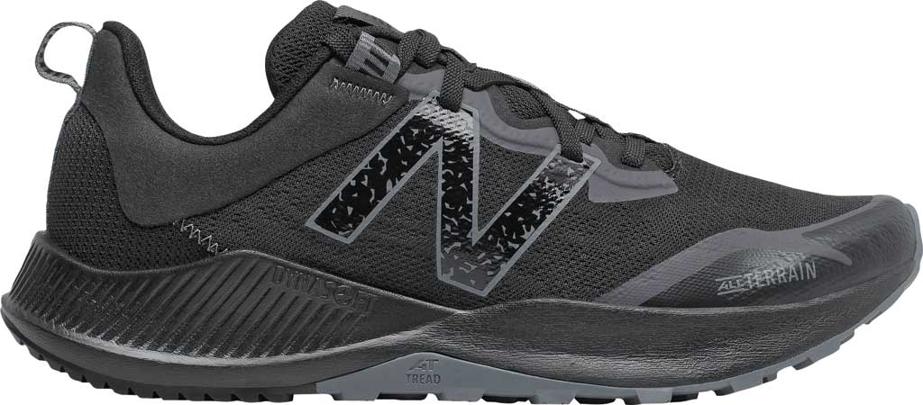 Men's New Balance DynaSoft Nitrel v4 Trail Running Shoe, Black/Black, large, image 2