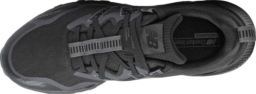 Men's New Balance DynaSoft Nitrel v4 Trail Running Shoe, Black/Black, large, image 4