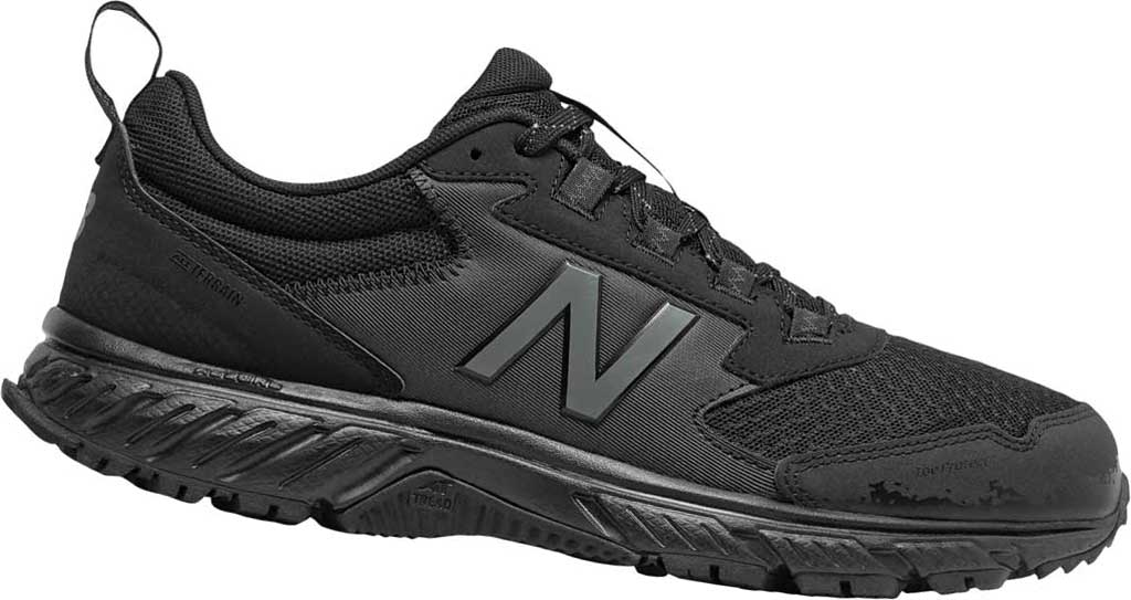 Men's New Balance 510v5 Trail Running Shoe, Black/Castlerock/Black, large, image 1