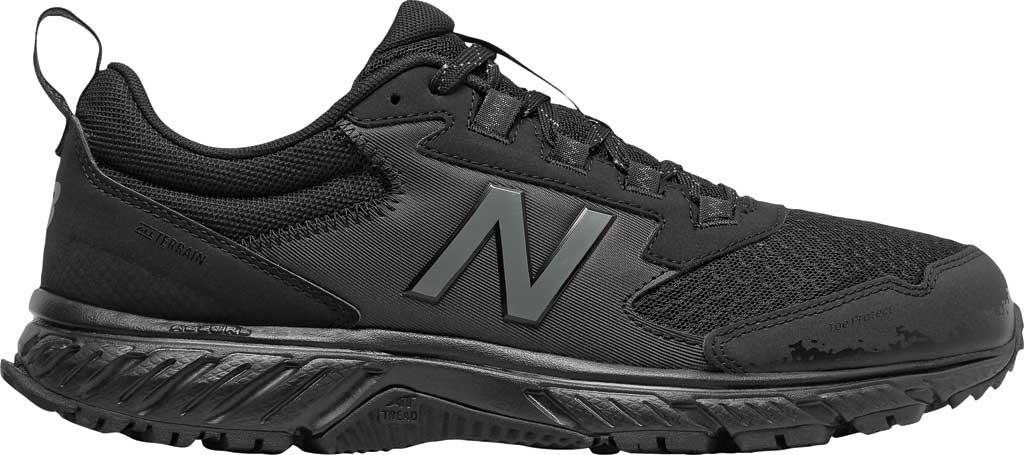 Men's New Balance 510v5 Trail Running Shoe, Black/Castlerock/Black, large, image 2