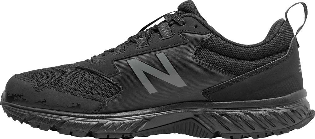 Men's New Balance 510v5 Trail Running Shoe, Black/Castlerock/Black, large, image 3