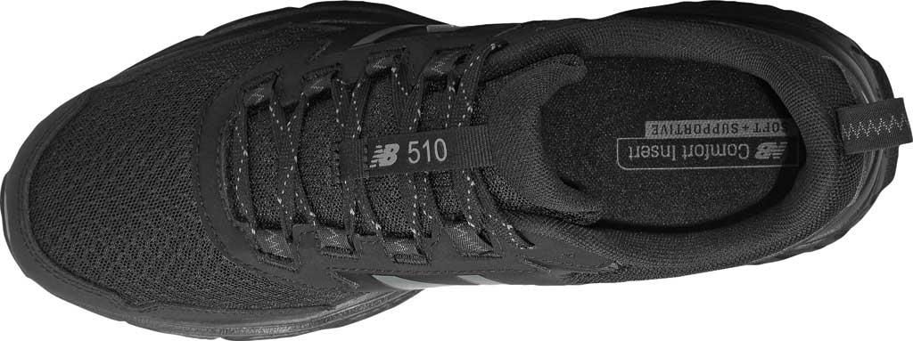 Men's New Balance 510v5 Trail Running Shoe, Black/Castlerock/Black, large, image 4