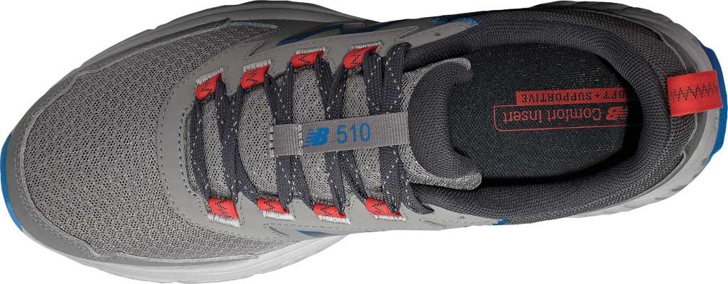 Men's New Balance 510v5 Trail Running Shoe, Marblehead/Magnet/Rain Cloud/Neo Classic Blue, large, image 4